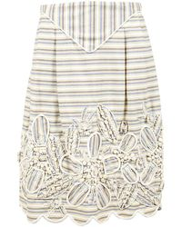 Oscar de la Renta Yellow Cotton Skirt