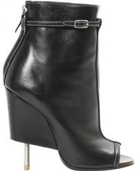 089aa144ac3b Givenchy High Stretch-leather Square-heel Boots in Black - Lyst