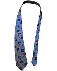 Moschino Corbata de Seda - Azul