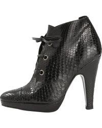 Barbara Bui Black Exotic Leathers Heels