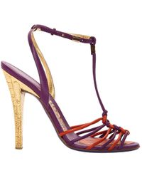 Ferragamo - Purple Leather - Lyst