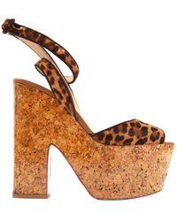 Pre-owned - Pony-style calfskin sandal Christian Louboutin 0H8IYr5