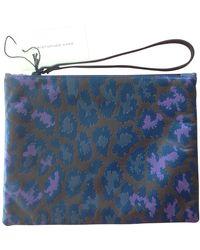 Christopher Kane Multicolor Leather Clutch Bag - Blue