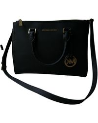 Michael Kors Sutton Leather Handbag - Black