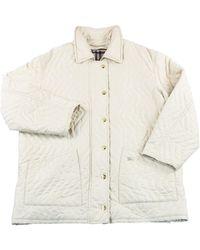 Burberry Wool Coat - White