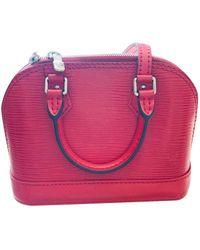 Louis Vuitton Bandolera Alma BB de Cuero - Rojo
