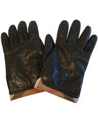 Burberry Leder Handschuhe - Schwarz