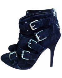 9579cb3c49d57 Giuseppe Zanotti Boots Candle Velvet Black in Black - Lyst