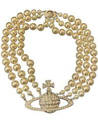 Vivienne Westwood Perlen colliers - Mettallic