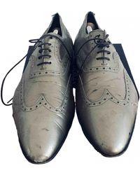 Philipp Plein Patent Leather Lace Ups - Metallic
