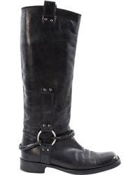 Bottega Veneta - Black Leather - Lyst