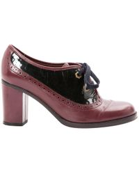 Marc By Marc Jacobs - Pre-owned Burgundy Leather Lace Ups - Lyst