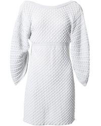 Chanel - Grey Viscose Dress - Lyst