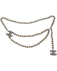 Chanel - Ecru Pearls Belts - Lyst