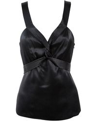 Proenza Schouler Black Silk Top