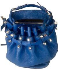 Alexander Wang Diego Leather Satchel - Blue