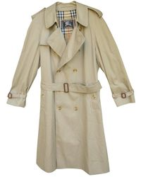 Burberry Mantel Polyester Beige - Natur