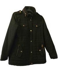 Michael Kors Khaki Polyester Coat - Black
