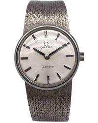 Omega Reloj en platino plateado - Metálico