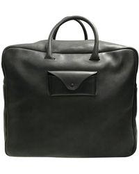 Maison Margiela Leather Weekend Bag - Black