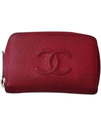 Chanel Piccola pelletteria in pelle rosso Timeless/Classique