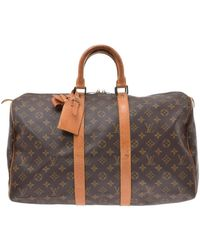 Louis Vuitton Keepall Leinen 48 Std/ Tasche - Braun