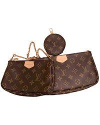 Louis Vuitton Bolsa de mano en charol marrón Multi Pochette Accessoires