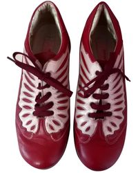 Roberto Cavalli Leather Lace Ups - Red