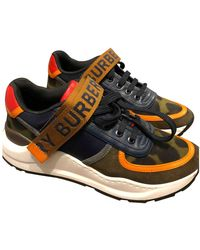 Burberry Leinen Sneakers - Mehrfarbig