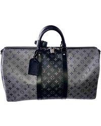 Louis Vuitton Keepall Leinen Reise tasche - Mehrfarbig
