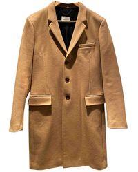 Sandro Camel Wool Coat - Multicolour