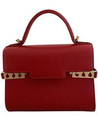 Delvaux Tempête Leather Mini Bag - Red