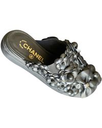 Chanel Leather Mules - Black