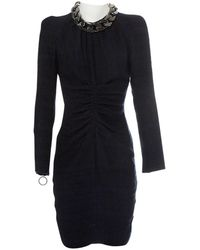 Givenchy Blue Wool Dress