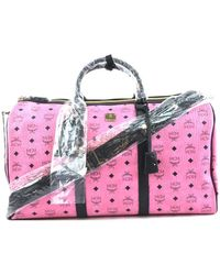 MCM Boston Leather Handbag - Pink