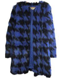 Michael Kors Multicolor Synthetic Coats - Blue