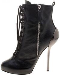 Giuseppe Zanotti - Black Leather - Lyst