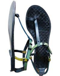 Bottega Veneta Leather Sandals - Blue