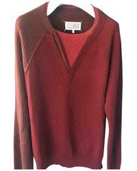Maison Margiela Pull.Gilets.Sweats en Laine Bordeaux - Multicolore