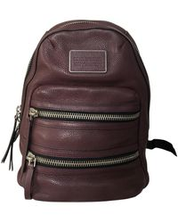 Marc By Marc Jacobs Burgundy Leather Backpacks - Multicolour