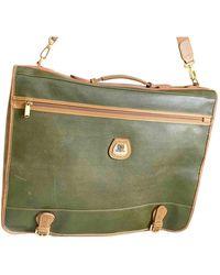 Lancel Green Leather Travel Bag
