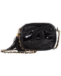Chanel Sac à main en Cuir Noir
