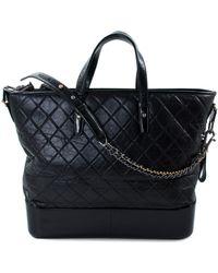 Chanel - Gabrielle Black Leather Handbag - Lyst
