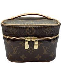 Louis Vuitton Nice Leinen Vanity - Braun