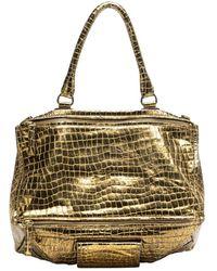 Givenchy - Pandora Gold Leather Handbag - Lyst