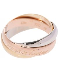 Cartier - Trinity Pink Gold Ring - Lyst