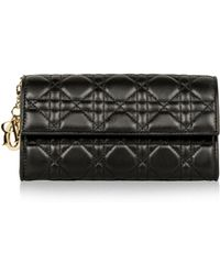 Dior Lady Leder Portemonnaies - Schwarz