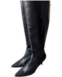 Bottega Veneta Leather Boots - Black