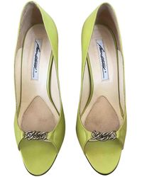Brian Atwood Leather Heels - Green