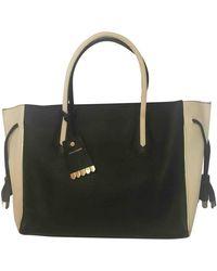 Longchamp Cabas Penelope de Cuero - Negro